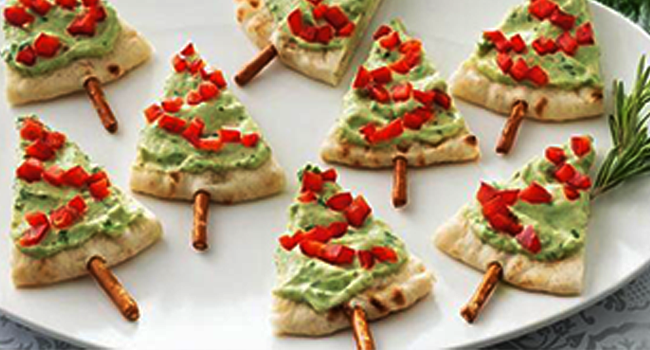 Healthy Holidays Pita Trees Recipe